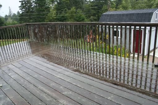 Cleared deck