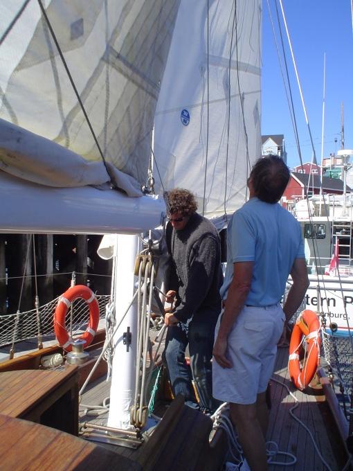 Jeff surveying sail