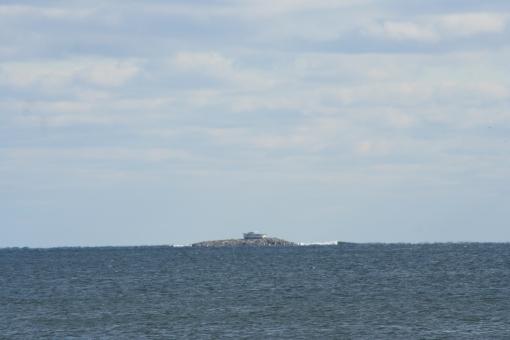 Boat on island